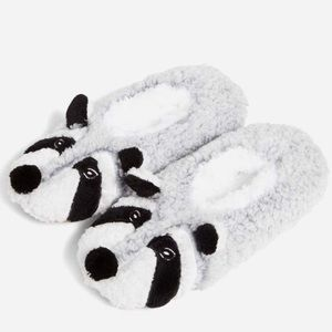 NWT Vera Bradley Cozy Life Raccoon Slippers Large